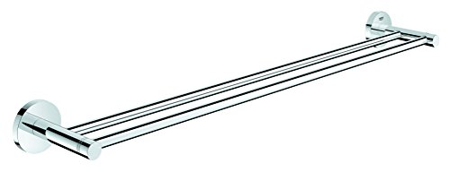 Grohe 40802001 Essentials Double Towel Bar 26.182 x 4.725 x 2.363 Chrome by GROHE (Image #1)