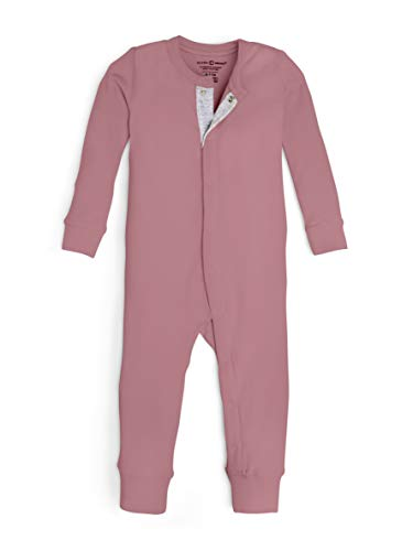 Colored Organics Unisex Baby Organic Cotton Emerson Sleeper - Long Sleeve Infant Coverall - Dusty Rose - 6-12M