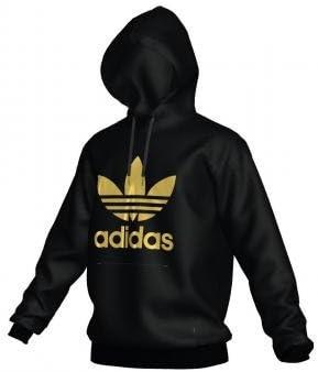Adidas Team Tech Pullover Hoodie BlackTactile Gold Met.