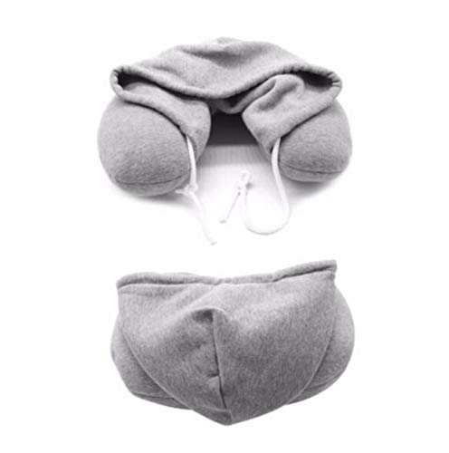 ( AIUSD , Hoodie Travel Pillow Soft Hooded U Cushions Travelling Pillows Body Neck Support)