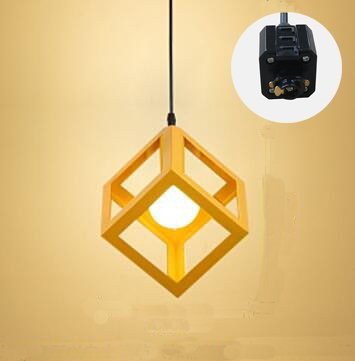 Three Wire Track Light - STGLIGHTING Square Design H-type 3 Wire Track Pendant Light 3.3 Feet Cord Iron Industrial Factory Pendant Lamp Bulb Not Included TB0287
