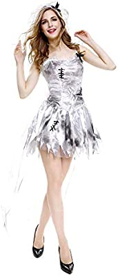 RENJIANFENG Fantasma Halloween Zombie Momia Disfraz De Novia ...