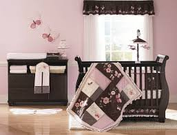 Carters Butterfly Flowers Crib Bumper Pad only Pink/Chocolate