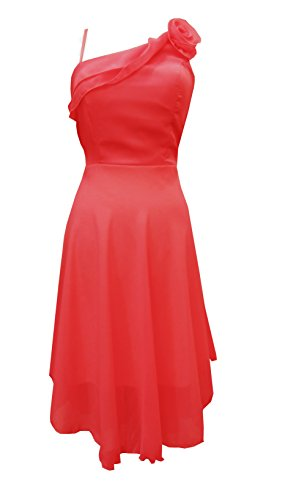 Young-Fashion - Vestido - Noche - Sin mangas - para mujer Rojo