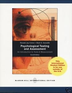 Psychological Testing and Assessment: An Introduction to Tests and Measurement.