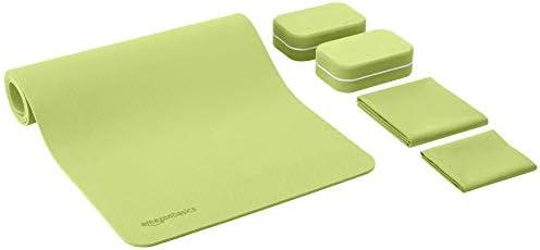 Amazon Basics 1/4-Inch Thick TPE Yoga Mat 6 Piece Set