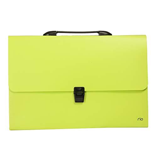 deli WB40402 13 Pocket Rio Expanding FC File, Green