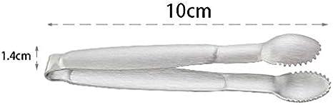 Silver Gespout Exquis de Cuisine Fournitures en Acier Inoxydable Cube Candy Pince /à Glace Clip /épais Nourriture Clip Acier Inoxydable 10 * 1.4cm