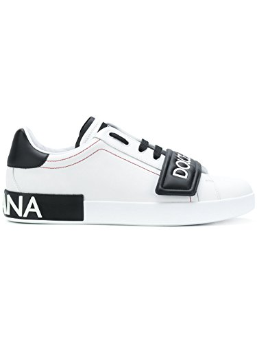 Dolce e Gabbana Men's Cs1573an16989697 White/Black Leather - Sneakers Men And For Dolce Gabbana