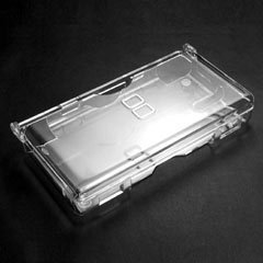 NDS Lite Crystal Clear ICE White Case