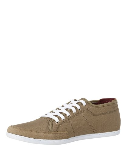 Sparko Waxed Canvas taupe/dark red wx canv-white sole