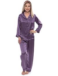 Women s 100% Silk Pajama Set - Luxury Sleepwear Pjs (Morning Dew) 6b39e2303