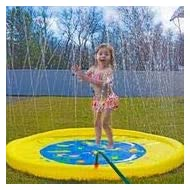 """Splashin'kids 68"""" Sprinkle and Splash Play Mat toy is for children infants toddlers,boys, girls and kids - perfect inflatable outdoor sprinkler pad"""