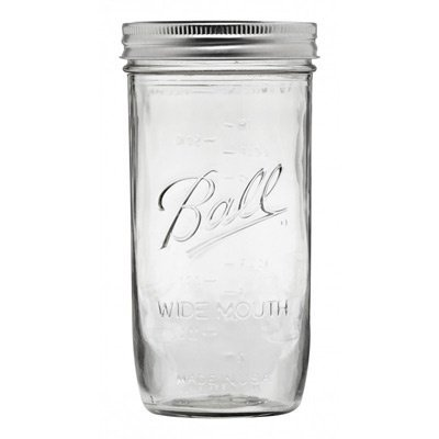 Ball 65500 Wide Mouth 24 Oz. Glass Mason Jars - 9 / CS