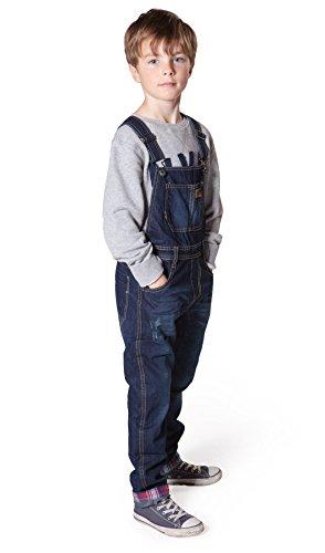 Big Boys Darkwash Denim Bib Overalls Boys Blue Slim Leg