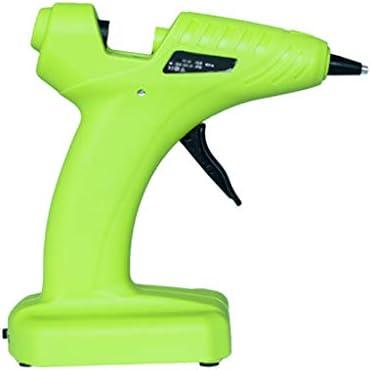 Minmin 玩具修理DIY、芸術創造、グリーンに適したワイヤレスコードレスホットメルト接着ガン、バッテリーホットグルーガン、ポータブル、 ミニ (Color : Green)