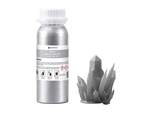 - Monoprice Rapid UV 3D Printer Resin 250ml - Gray | Compatible With All UV Resin Printers DLP, Laser, or LCD