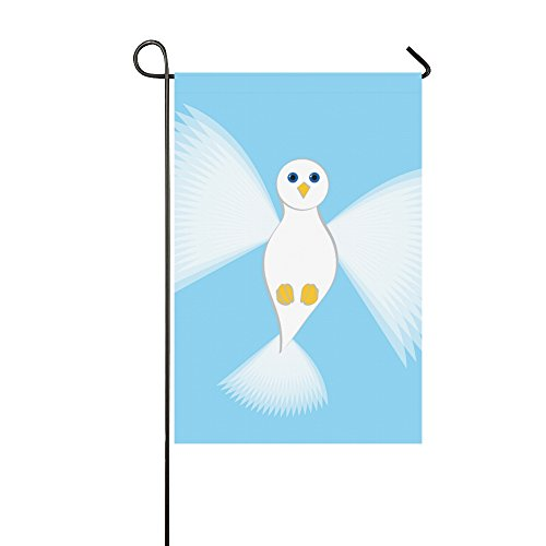- VNASKL Home Decorative Outdoor Double Sided Dove Fly Bird Freedom Garden Flag,House Yard Flag,Garden Yard Decorations,Seasonal Welcome Outdoor Flag 12 X 18 Inch Spring Summer Gift