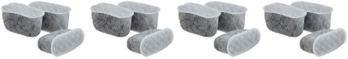 Replacement Activated Charcoal Water Filters For Capresso CoffeeTeam TS and CoffeeTeam GS Coffee Maker 4640.93 - 12 Filters by Nispira