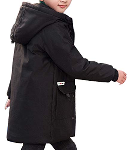 Parka Mid Black B Winter Jacket Down Boy Duck Hooded Coat Padded Puffer SellerFun Thick Style Overcoat twqFUHSWB