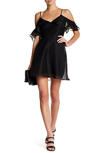 Keepsake The Label Lost Lover Cold Shoulder Mini Dress for Women in Black, Small