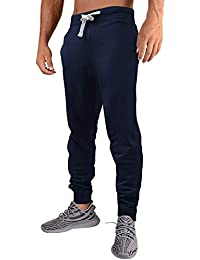 Men's Casual Jogger Sweatpants Basic Fleece Jogger Pant Elastic Waist