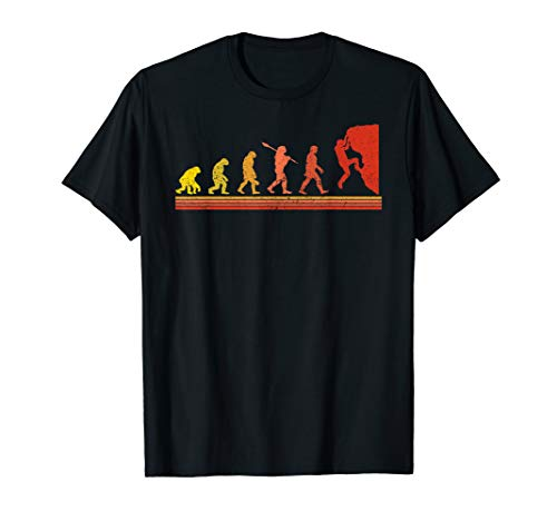 Retro Vintage Evolution Rock Climbing T-Shirt