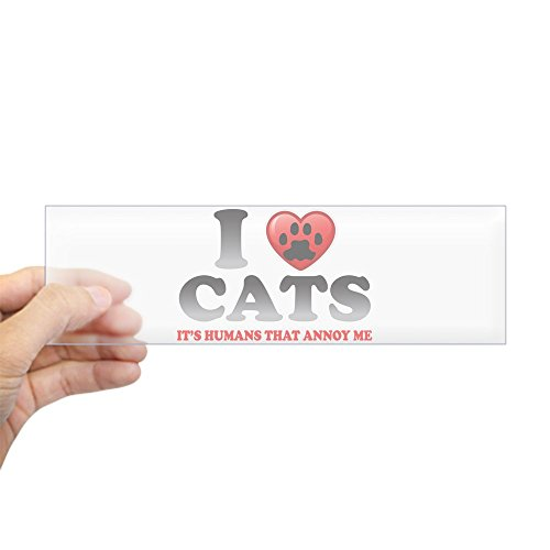 (Bumper Sticker Clear Love Cats It's Humans That Annoy Me)