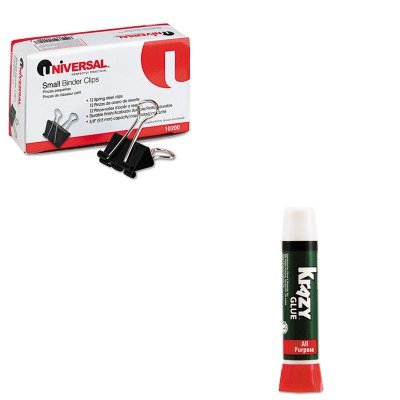 00 - Value Kit - Krazy Glue All-Purpose Liquid Formula (EPIKG58548R) and Universal Small Binder Clips (UNV10200) (Epikg58548r Krazy Glue)