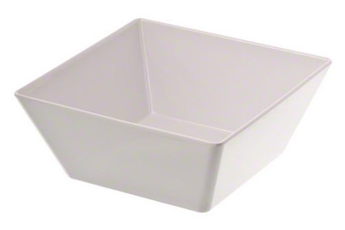 American Metalcraft MELSQ94 Melamine Square Bowl, 125-Ounce,