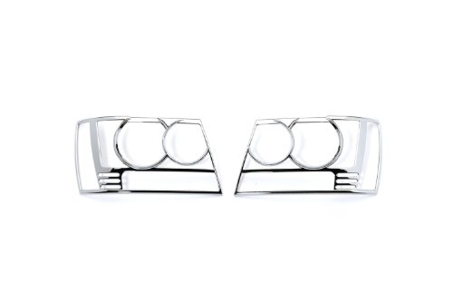 Putco 401206 Chrome Trim Head Lamp Overlay and Ring