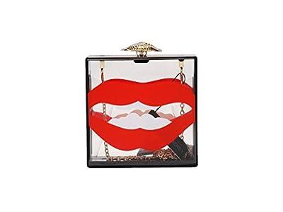 "Hearty Trendy""Sexy Lips"" Box Clutch"