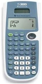 Texas Instruments TI-30XS Scientific Calculator - 16 Character(s) - LCD - Solar Battery Powered