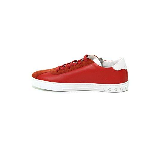Tods Lederen Sneaker Man Met Suède Inzetstukken Mod Doos Zolen. Xxm0xy0y170tf83ddf Rode 8½