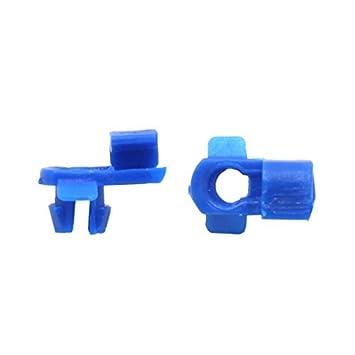 eDealMax 30pcs 7 mm agujero DE 6 mm Madre Auto Remaches Para Coche recortar Clips sujetadores