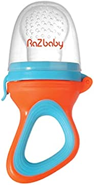 RaZbaby Baby Fruit Feeder/Food Feeder Pacifier, Infant Teething Toy Teether 6M+, Add Baby's Favorite Froze