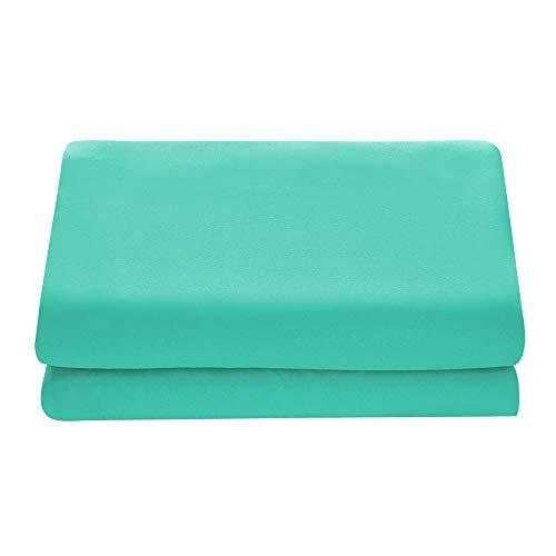 Comfy Basics 1-Piece Ultra Soft Flat Sheet - Elegant, Breathable, Turquoise, Twin