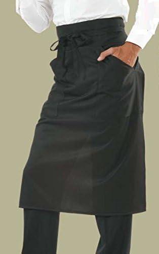 Angiolina Grembiule nero a vita lungo uomo donna per bar gelateria ristorante