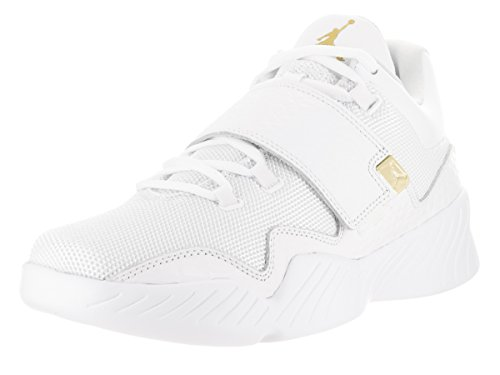 Jordan Nike Men's J23 White/Metallic Gold Casual Shoe 11.5 Men US by Jordan