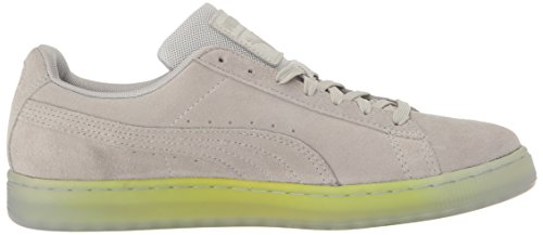 Puma Suede Classic Explosive Wildleder Turnschuhe Gray Violet-safety Yellow