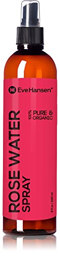 Heritage Water Bottle (Organic Rose Water Spray By Eve Hansen - 1 Huge 8 Ounce Bottle! Pure Rosewater Toner with Uplifting Floral Scent. Facial Toner for Skin and Eyes That Helps Balance PH, Soothes Puffy Eyes, and Redness.)