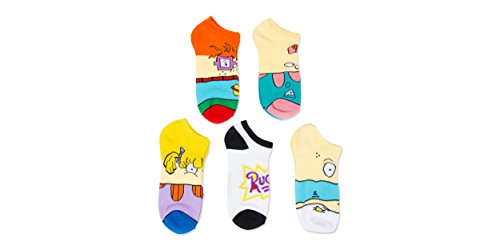 nickelodeon-rugrats-5-pk-no-show-socks