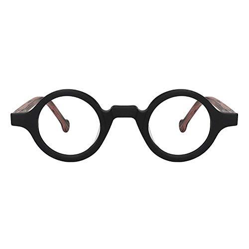Zeelool Unisex Acetate Vintage Small Round Eyeglasses Frame Arale FA0176-01(Black)