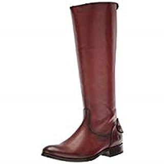 FRYE Women's Melissa Button Back Zip Knee High Boot, Cognac Extended, 7.5 M US