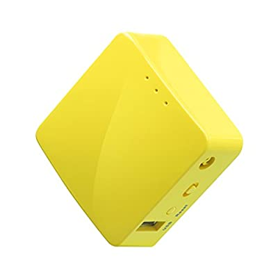 GL.iNET GL-MT300N-V2 Mini Travel Router, Repeater Bridge, 300Mbps High Performance, 128MB RAM, OpenVPN Client
