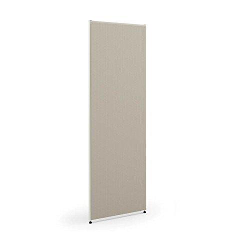 HON Verse Panel , 72''H x 48''W , Light Gray Finish , Gray Fabric (Renewed)