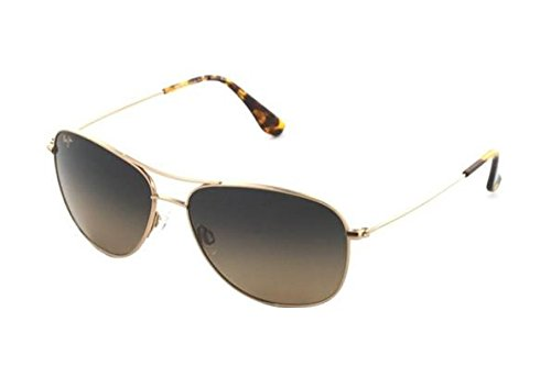 Maui Jim menswomen's Cliff House HS247-16   Sunglasses, Gold, with with Patented PolarizedPlus2 Lens ()