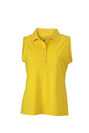 a4d274c33b3c86 James   Nicholson Women s Polo Ladies Active Sleeveless - Maternity Polo  Shirt - Yellow (Sun