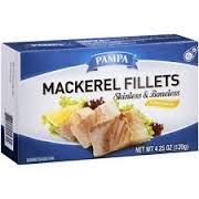 Pampa Mackerel Filet Oil, 4.2 oz (Pack of (Mackerel Fillets)