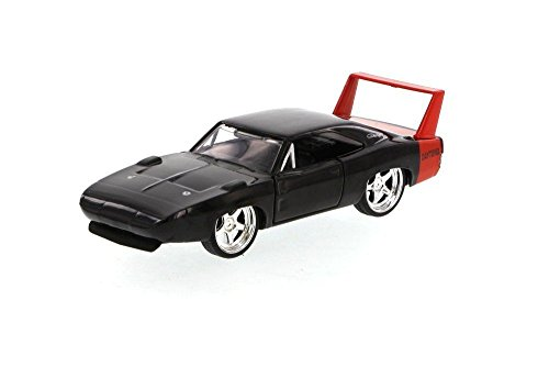 New 1:32 DISPLAY BIGTIME MUSCLE - BLACK 1969 DODGE CHARGER DAYTONA Diecast Model Car By Jada (Dodge Charger Muscle Cars)